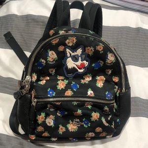 Coach Mini Charlie Backpack Tea Rose Floral Print